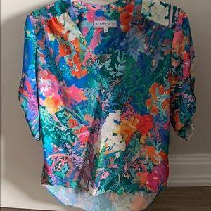 Amanda U floral blouse